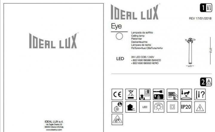 Точечный светильник Ideal Lux EYE 186986