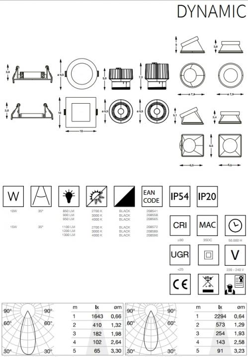 Модуль светильника Ideal Lux DYNAMIC 208558