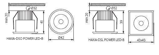 Точковий світильник Kanlux HAXA-DSO POWER LED-B 8103
