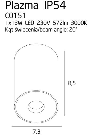 Точечный светильник Maxlight PLAZMA C0151