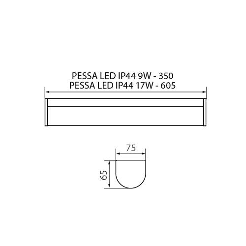 Бра Kanlux PESSA LED IP44 17W-NW 27533