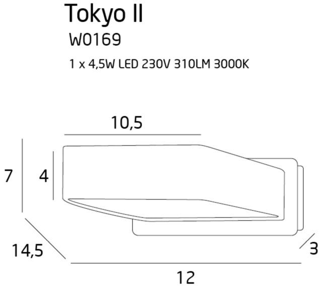 Бра Maxlight TOKYO II W0169