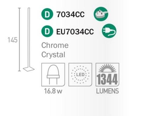 Настольная лампа Searchlight CLOVER EU7023CC