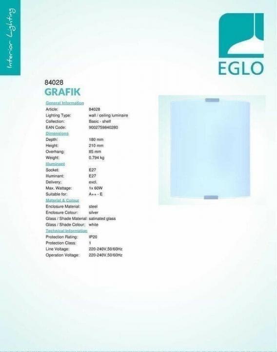 Бра Eglo GRAFIK 84028