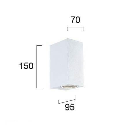 Настінний вуличний світильник Viokef TILOS 4099401
