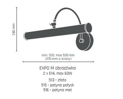 Бра Amplex EXPO M 515