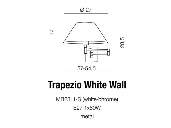 Бра AZzardo TRAPEZIO AZ1542 (MB2311SWH )