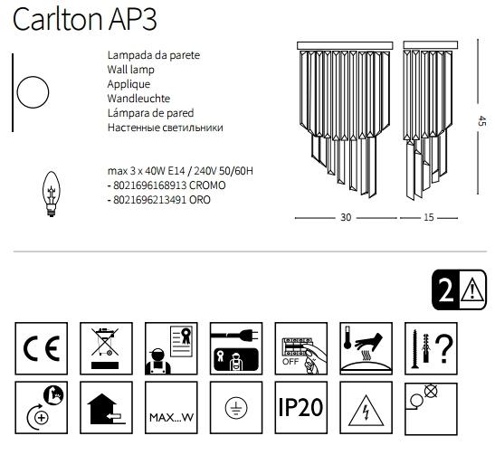 Бра Ideal Lux CARLTON 213491