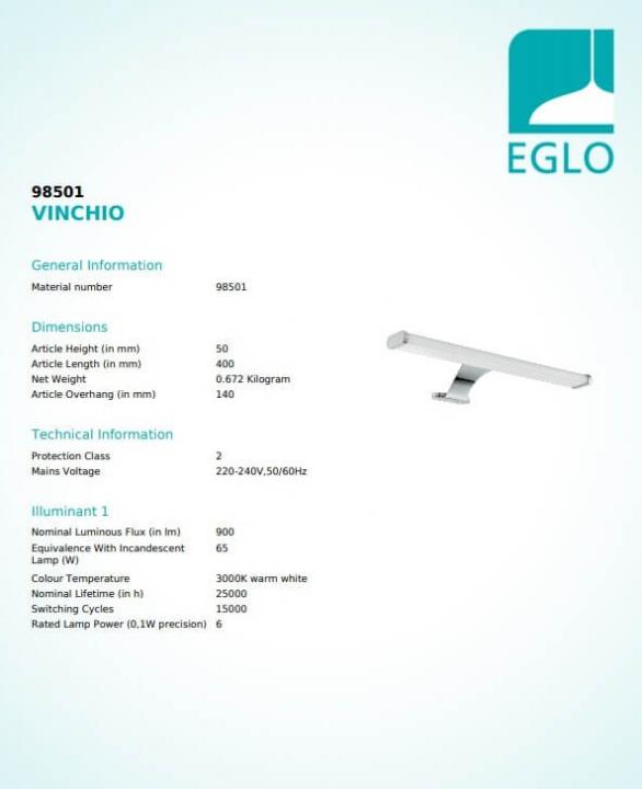 Бра Eglo VINCHIO 98501