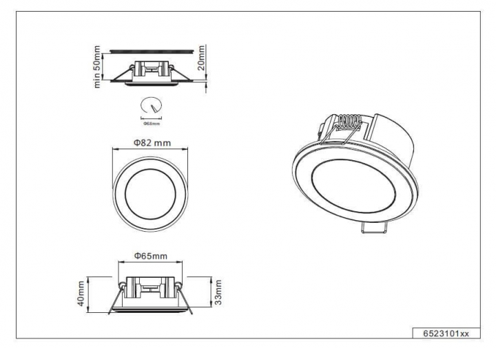Точечный светильник TRIO AURA 652310131