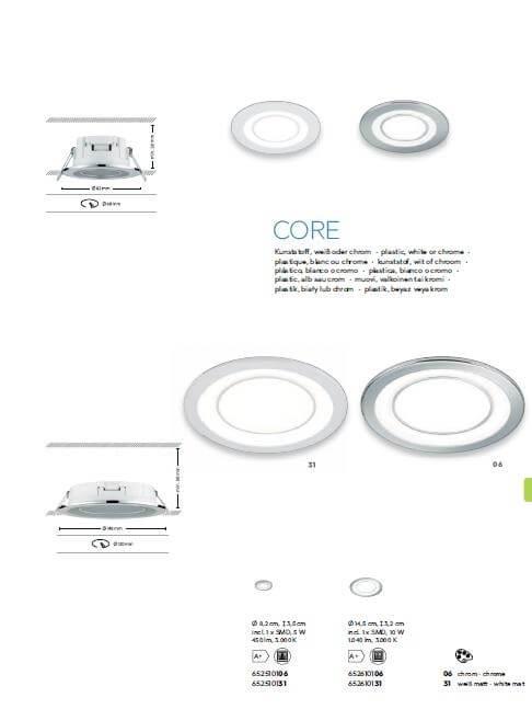 Точковий світильник TRIO CORE 652610131