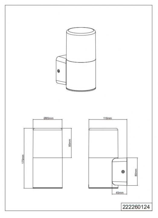 Настінний вуличний світильник TRIO HOOSIC 224060142