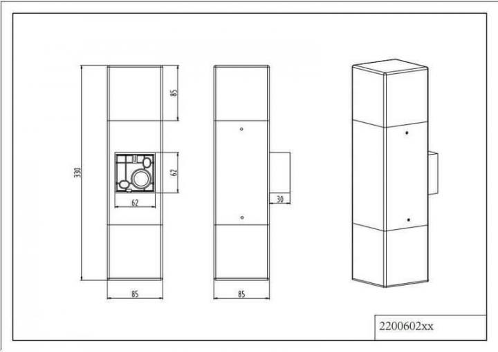 Настінний вуличний світильник TRIO HUDSON 220060287