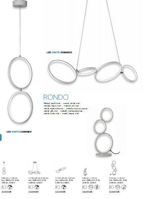 Настільна лампа TRIO RONDO 522610331
