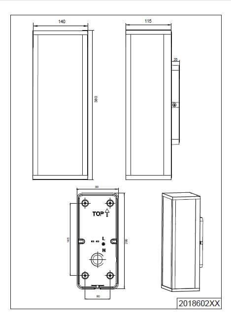Настінний вуличний світильник TRIO GARONNE 201860286