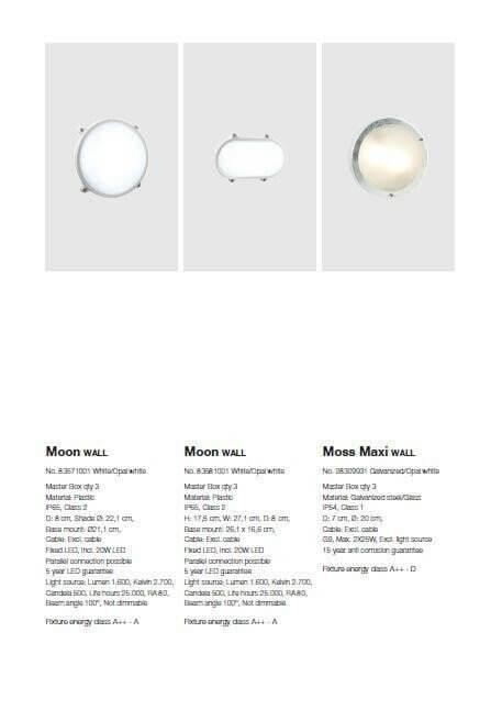 Настінний вуличний світильник Nordlux MOON OVAL 83581001