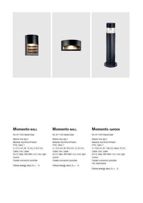 Настінний вуличний світильник Nordlux MOMENTO 871123
