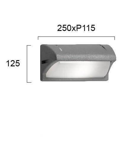 Настінний вуличний світильник Viokef PATMOS 4055900