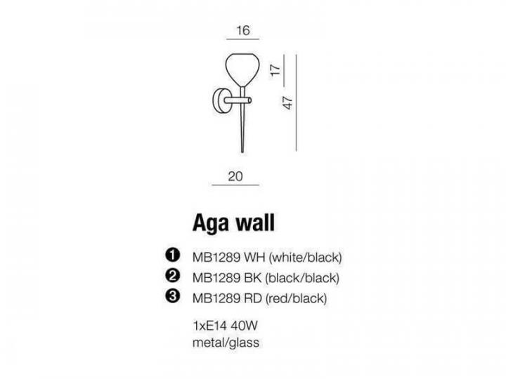 Бра AZzardo AGA AZ1075 (MB1289RDBK)