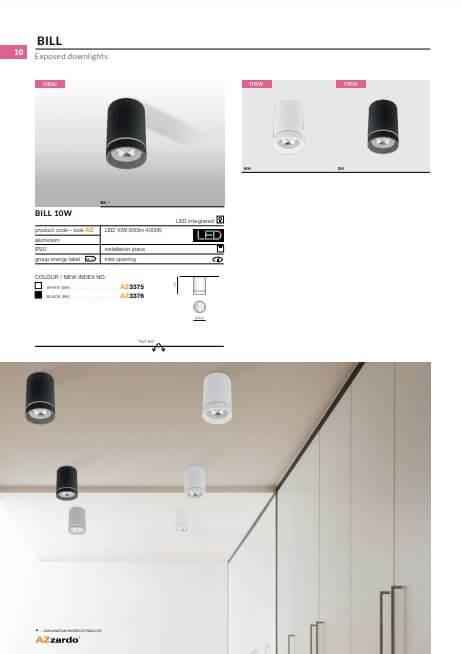 Точечный светильник AZzardo BILL 10W AZ3375