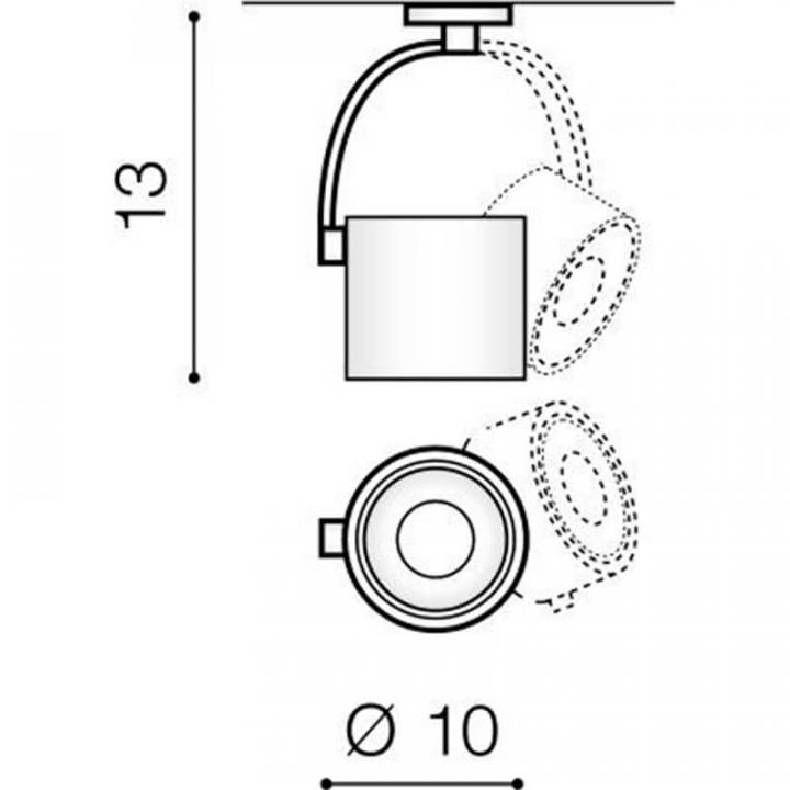 Трековый светильник AZzardo COSTA ARM TRACK AZ3487