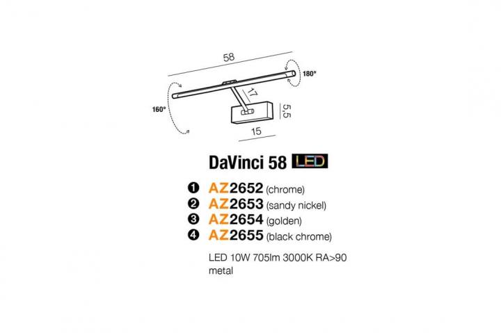 Бра AZzardo DAVINCI 58 AZ2655