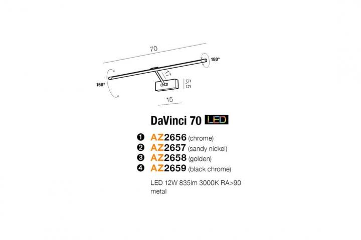 Бра AZzardo DAVINCI 70 AZ2659