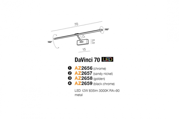 Бра AZzardo DAVINCI 70 AZ2657