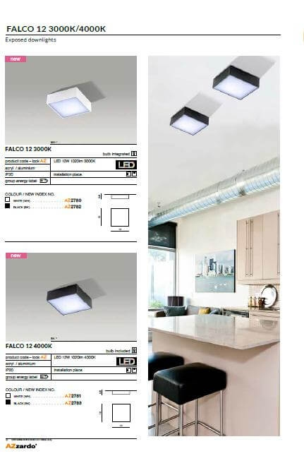Точечный светильник AZzardo FALCO 12 3000K AZ2780