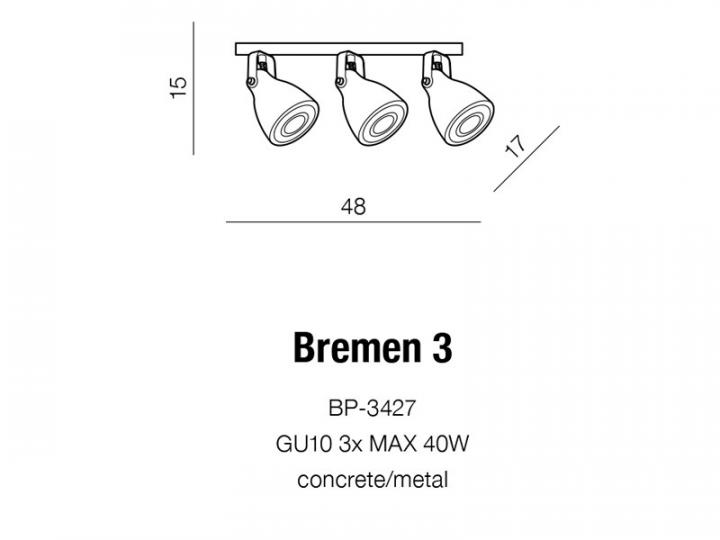 Люстра AZzardo BREMEN 3 AZ2371 (BP3427GR)