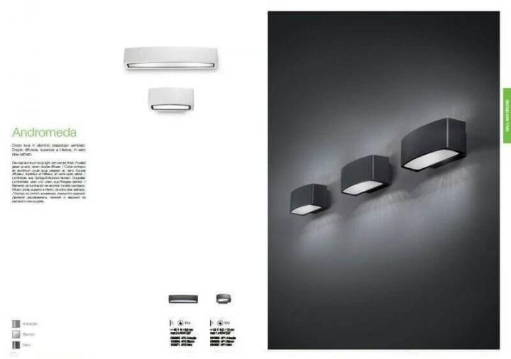 Настінний вуличний світильник Ideal Lux ANDROMEDA 163536