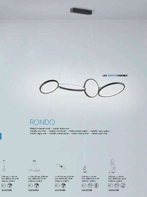 Настільна лампа TRIO RONDO 522610332