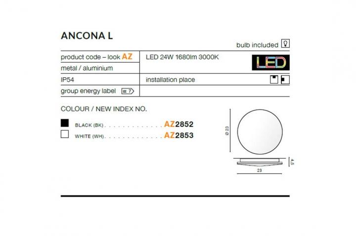 Бра AZzardo ANCONA L AZ2852