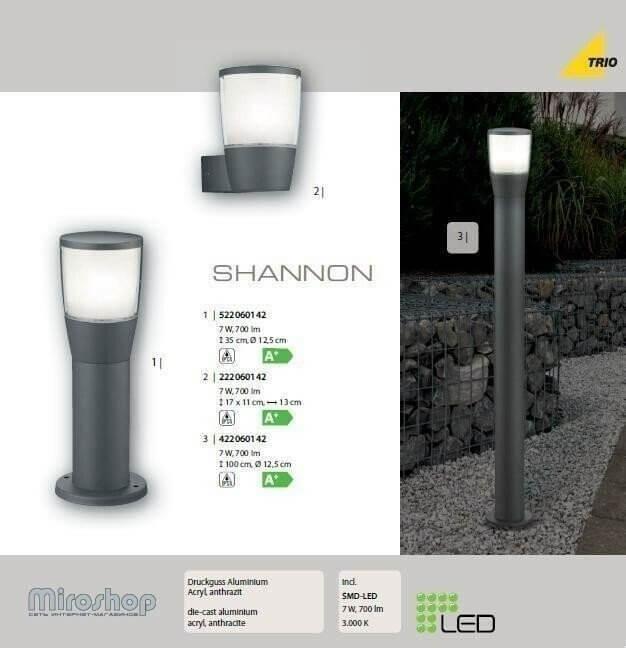Настінний вуличний світильник TRIO SHANNON 222060142