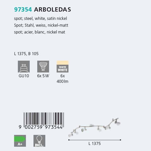 Потолочный светильник Eglo ARBOLEDAS 97354
