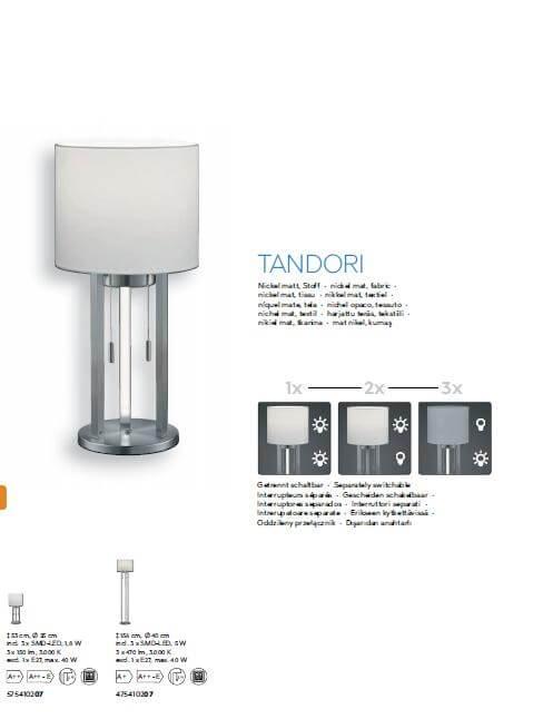 Торшер TRIO TANDORI 475410207