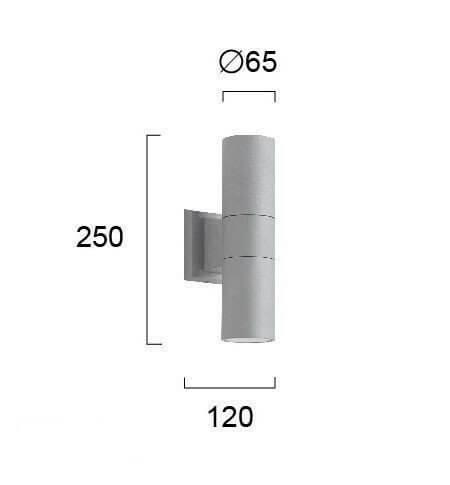 Настінний вуличний світильник Viokef SOTRIS 4038400
