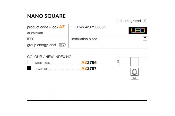 Точечный светильник AZzardo NANO AZ2786