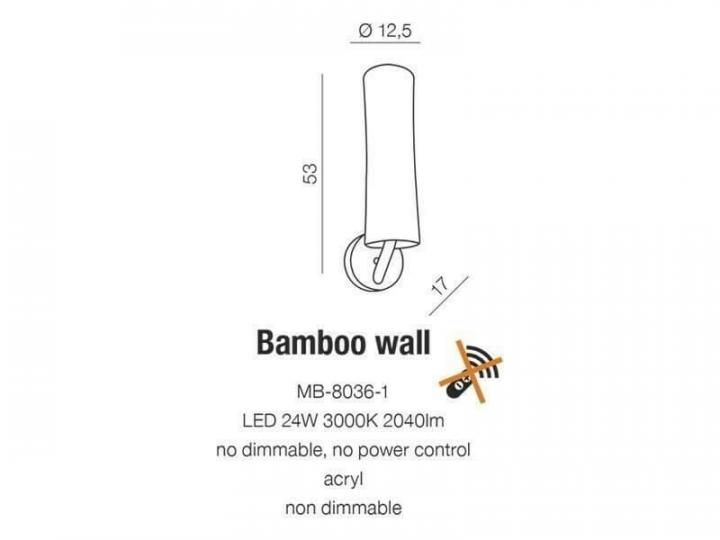 Бра AZzardo BAMBOO AZ2053 (MB80361WH)