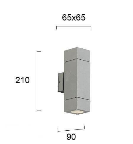 Настінний вуличний світильник Viokef PAROS 4053700