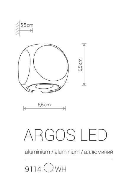 Настінний вуличний світильник Nowodvorski ARGOS LED 9114