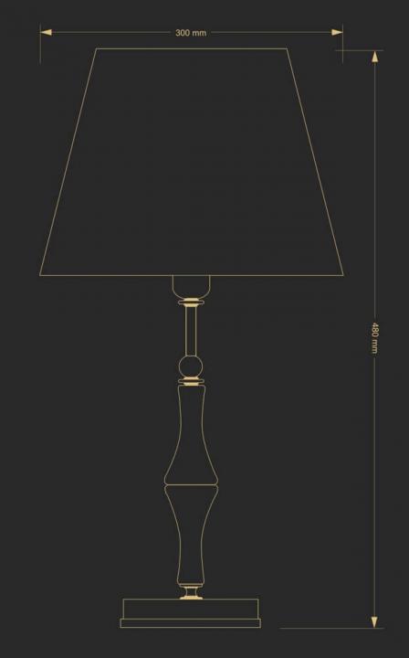 Настільна лампа Kutek CASAMIA CAS-LG-1(P/A)