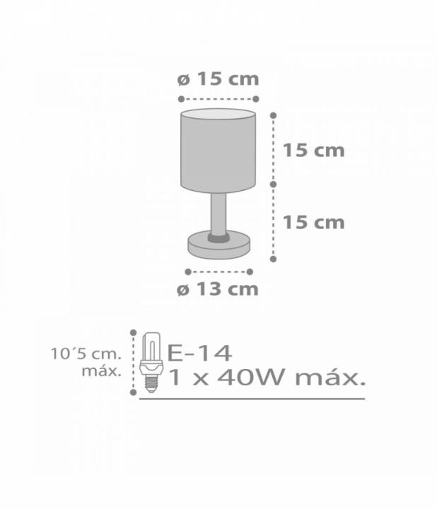 Настільна лампа Dalber Sweet Dreams Grey 62011E