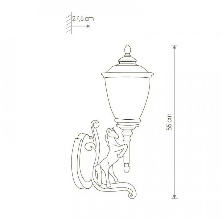 Настінний вуличний світильник Nowodvorski HORSE 4902