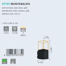 Бра Eglo MONTEBALDO 97735