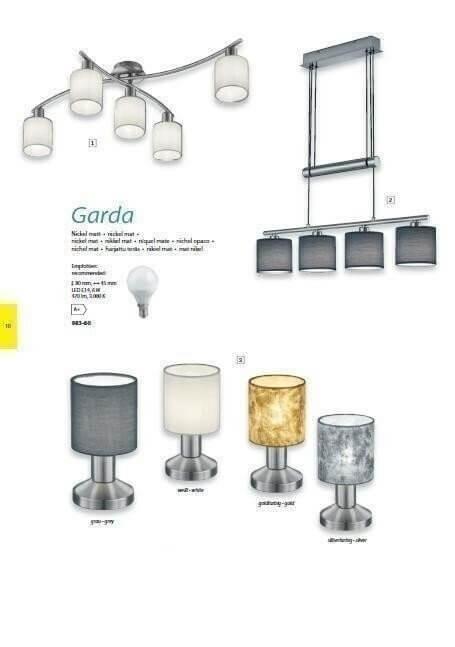 Настільна лампа TRIO GARDA 595400101