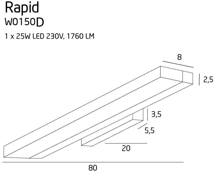 Бра Maxlight RAPID W0150D