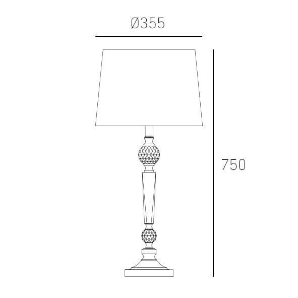 Настільна лампа CosmoLight CHARLOTTE T01295WH