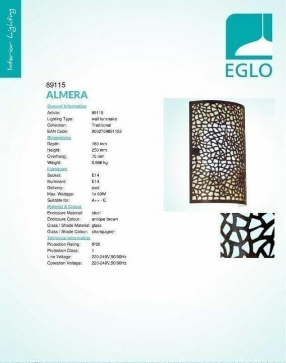 Бра Eglo ALMERA 89115