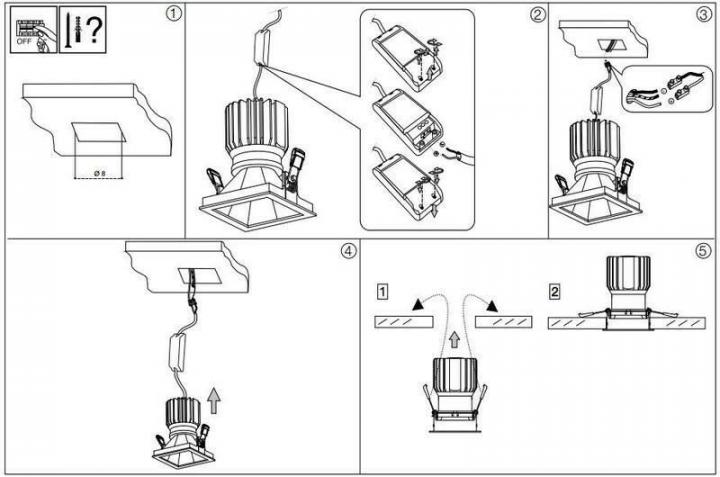 Точечный светильник Ideal Lux GAME SQUARE 192383